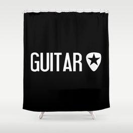 Guitarist: Guitar Pick & Black Star Shower Curtain
