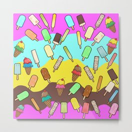 Ice Cream Treats Metal Print