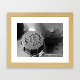 Engine oil Framed Art Print