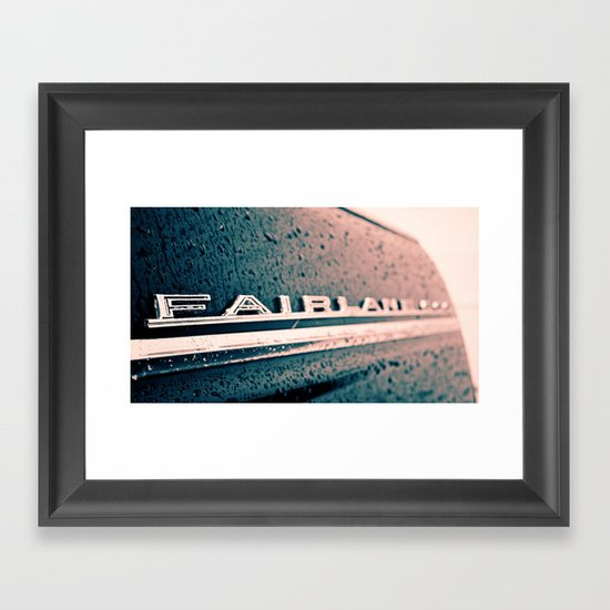 Fairlane emblem Framed Art Print