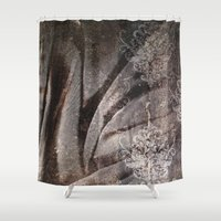 fabric Shower Curtains featuring FABRIC #5 by ED design for fun