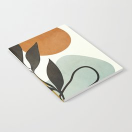 Soft Abstract Small Leaf Notebook