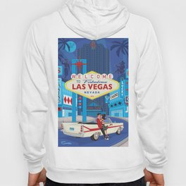 Vegas Baby by Art of Scooter Mid Century Modern inspired art and merchandise  Hoody