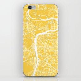 Prague map yellow iPhone Skin