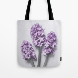 Three Light Purple Hyacinths Tote Bag