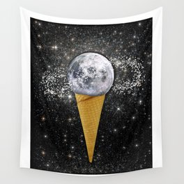 MOON ICE CREAM Wall Tapestry