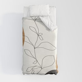 Abstract Plant Duvet Cover