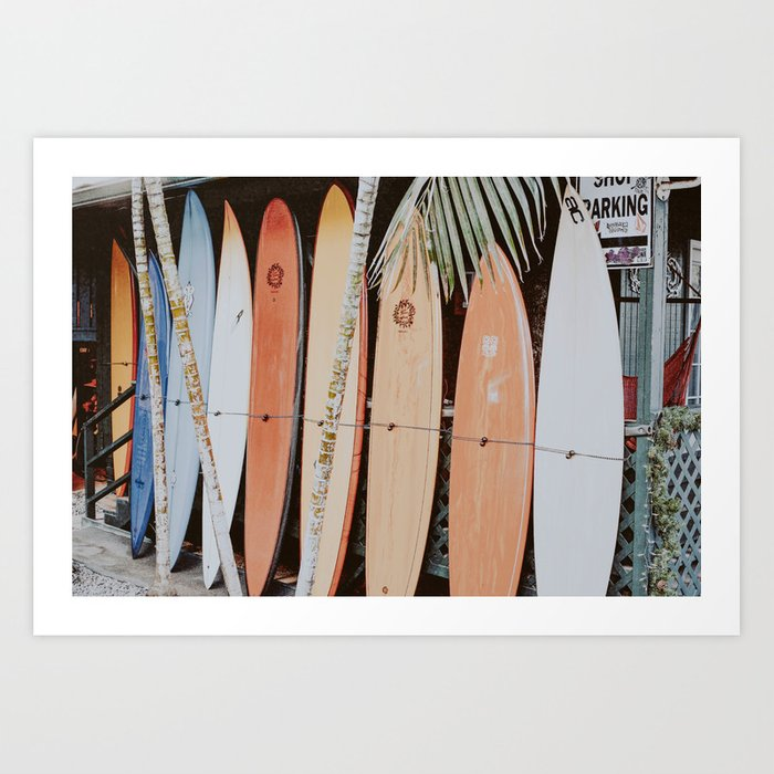 lets surf ii Art Print