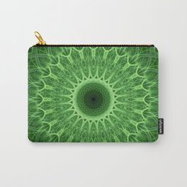 Green detailed mandala Carry-All Pouch