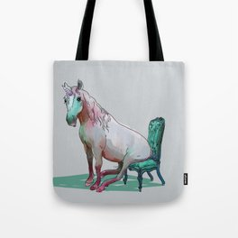 animals in chairs #22 The Unicorn Tote Bag