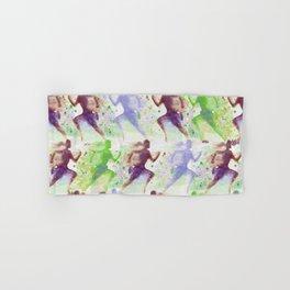 Watercolor women runner pattern Brown green blue Hand & Bath Towel