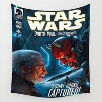 starwars Wall Tapestries featuring StarWars :  Count Dooku Capture! by Don Kuing