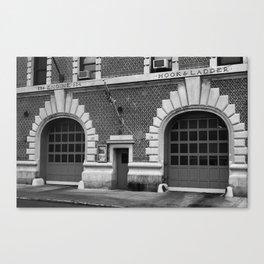 Brooklyn Firehouse Double Doors 2001 BW Canvas Print