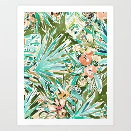 FAN OUT Tropical Palmetto Floral Art Print