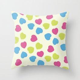 Love Hearts Throw Pillow