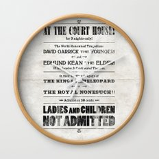 The Duke & The King Wall Clock
