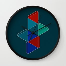 Octahedron I Wall Clock