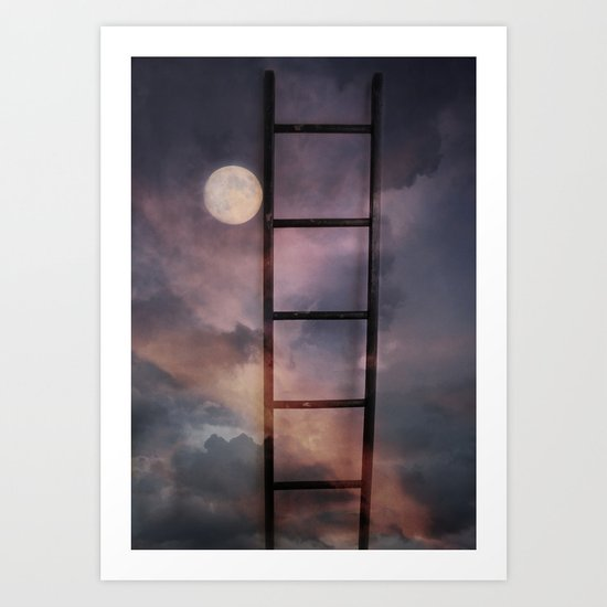 Beyond the Moon and back Art Print