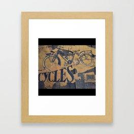 Cycles Vintage Poster Framed Art Print
