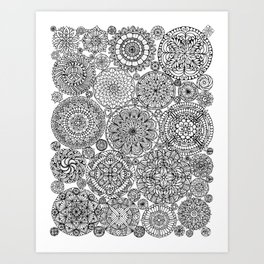 The Yang, Light Mandalas Art Print