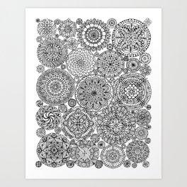 The Yang, Light Mandalas Art Print