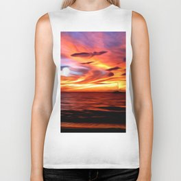 Honeymoon Sunset Biker Tank