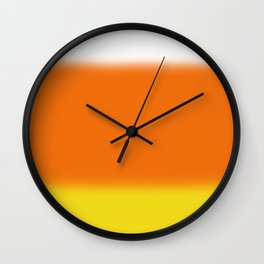 Candy Corn Ombre Wall Clock