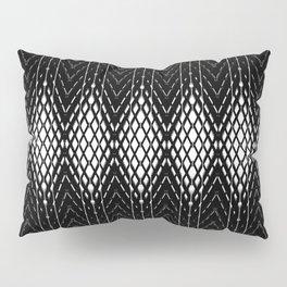 Geometric Black and White Diamond Scales Pattern Pillow Sham