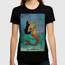 La Sirena Mexican Loteria Bingo Card T-shirt