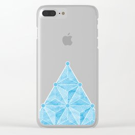 Geodesic Palm_Blue Sky Clear iPhone Case