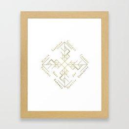 Binding Rune - Joy of Fortunes in Gold Framed Art Print