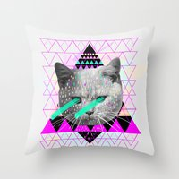 la Throw Pillows featuring Pastel  by Kris Tate