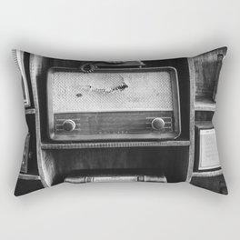 Retro Stand (Black and White) Rectangular Pillow