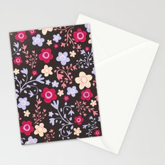 Flowers and Vines Pattern Stationery Cards