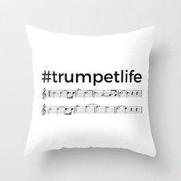 #trumpetlife Throw Pillow