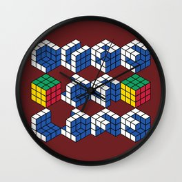 Cube is Life Wall Clock