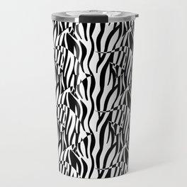 Black and White Zebra fish Travel Mug