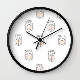 Peach Milk Cartons Wall Clock