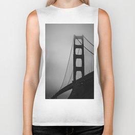 Golden Gate at Night Biker Tank
