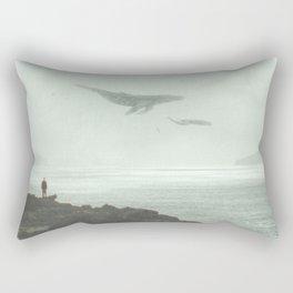Flying Whales Rectangular Pillow
