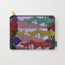 Dogs and Flowers Carry-All Pouch