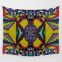 mirror Wall Tapestries featuring Mirror by Marcela Caraballo