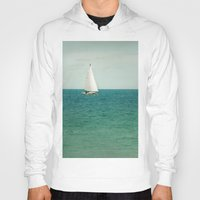 sail Hoodies featuring Minty Sail by Pure Nature Photos