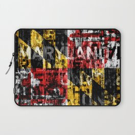 Maryland Flag Print Laptop Sleeve