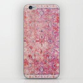 Pink Vintage Antique Oriental Traditional Moroccan Original Artwork iPhone Skin