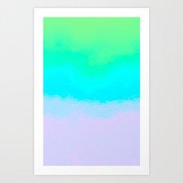 Tie Dye Ombre Art Print