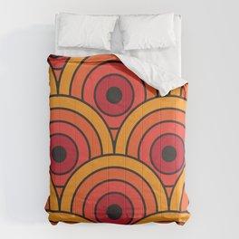 70s wallpaper Comforters