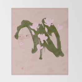 Magnolia (Mulan) Throw Blanket