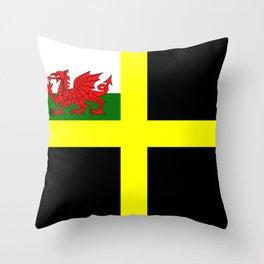 Flag of Saint David Throw Pillow