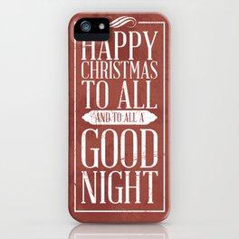 Happy Christmas iPhone Case
